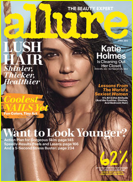 Katie Holmes: Topless 'Allure' Cover April 2013