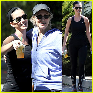 Katy Perry & Jane Lynch: Hiking Trail Run-In!