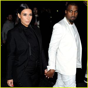 Kim Kardashian & Kanye West: Givenchy Show Couple!