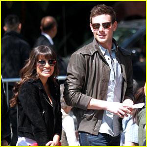 Lea Michele & Cory Monteith: Kings Game Couple!