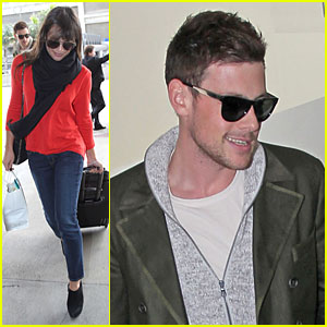 Lea Michele & Cory Monteith: New York Flying Couple!