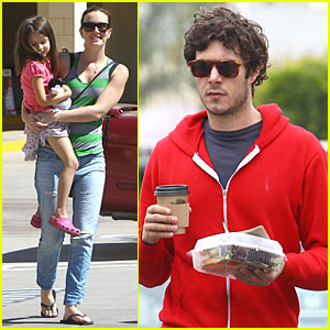 Leighton Meester & Adam Brody: Separate Lunch Outings!