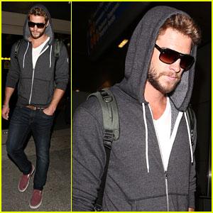 Liam Hemsworth Lands in Los Angeles, Miley Cyrus Twerks