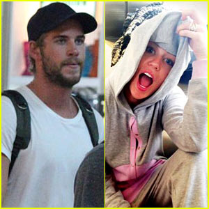 Liam Hemsworth Leaves Manila, Miley Cyrus Tweets Engagement Ring Pic