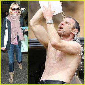 Naomi Watts: Liev Schreiber's Shirtless Surf Day!