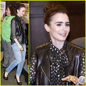 Lily Collins: 'Clockwork Princess' Book Release!