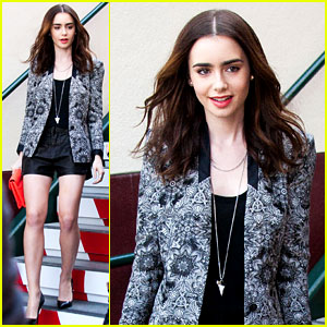 Lily Collins: 'Extra' Appearance with Michael Angarano!