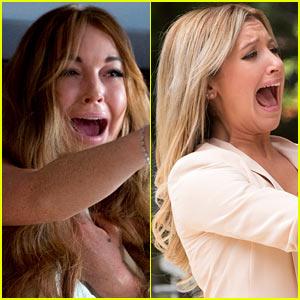 Lindsay Lohan Ashley Tisdale Scary Movie V Exclusive Stills Ashley Tisdale Exclusive Lindsay Lohan Scary Movie 5 Just Jared
