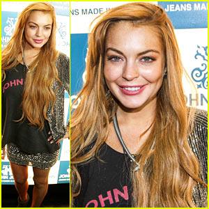 Lindsay Lohan: John John Promotion in Brazil!
