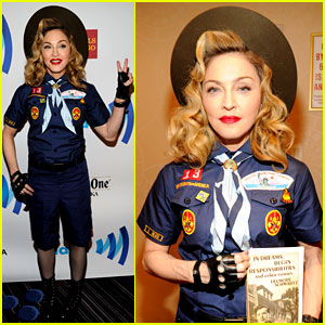 Madonna: Boy Scout Costume at GLAAD Media Awards 2013!