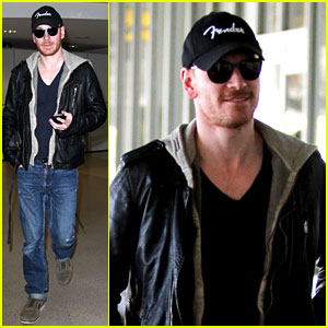 Michael Fassbender: Fender Fellow at LAX!