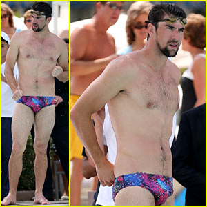 Michael Phelps: Shirtless Speedo Poolside Afternoon!