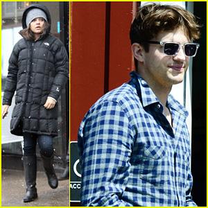 Mila Kunis Gets Pampered, Ashton Kutcher Picks Up Ice Cream