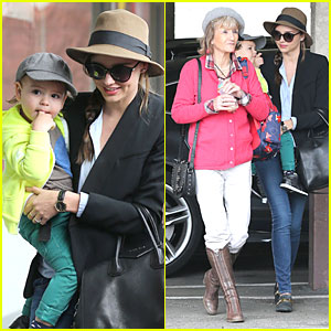 Miranda Kerr: Flynn's Gym Stop with Orlando Bloom's Mother Sonia!