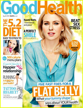 Naomi Watts Covers 'Good Health' Magazine April 2013