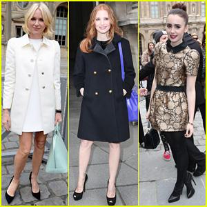 Naomi Watts & Jessica Chastain: Louis Vuitton Fashion Show!