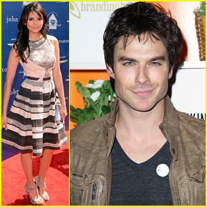 nina dobrev attends john varvatos benefit ian somerhalder hits sxsw [Foto] Gli impegni di Nina e Ian nel weekend
