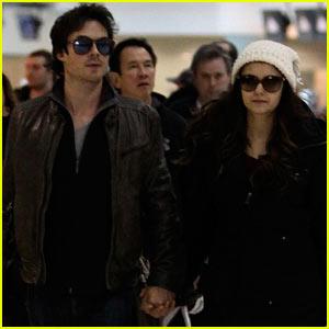 Ian Somerhalder & Nina Dobrev Hold Hands After Visiting Sick Fan