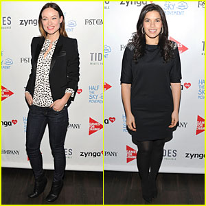 Olivia Wilde & America Ferrera: Half The Sky Movement Event!