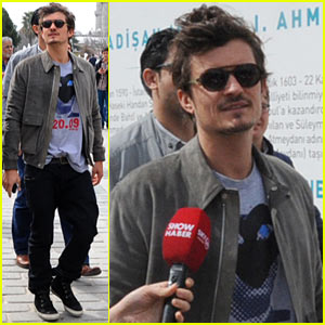 Orlando Bloom: Sightseeing in Istanbul!