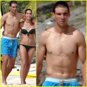 Rafael Nadal: Shirtless Beach Vacation with Maria Francisca Perello!
