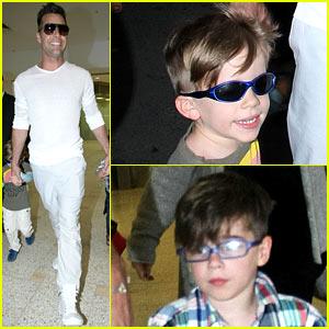 Ricky Martin: Sydney Arrival with Matteo & Valentino!