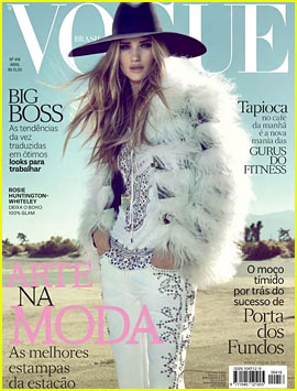 Rosie Huntington-Whiteley Covers 'Vogue Brasil' April 2013