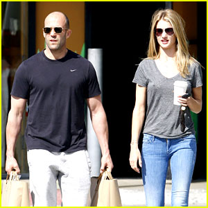 Rosie Huntington-Whiteley & Jason Statham: Breakfast Duo!