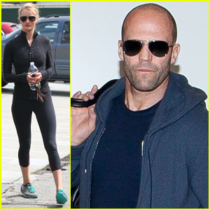 Rosie Huntington-Whiteley Works Out, Jason Statham Arrives at LAX