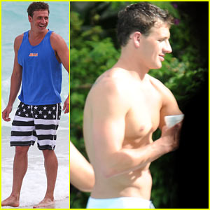 Ryan Lochte: 'What Would Ryan Lochte Do?' Beach Filming!