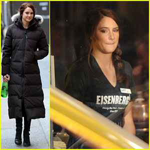 Shailene Woodley in Mary Jane Watson Costume - First Pics!