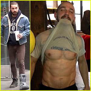 Shia LaBeouf: Foot Brace in New York City