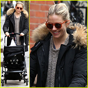 Sienna Miller: Stroller Pushing with Marlowe!
