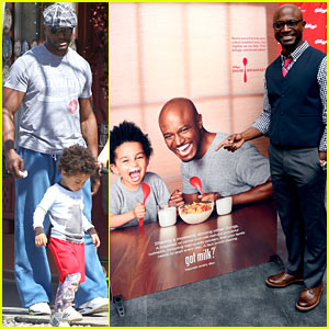 Taye Diggs & Walker: Lunch After 'Got Milk?' Ad Unveiling!