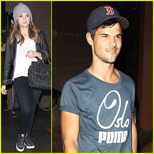 Taylor Lautner & Ashley Benson: Fogo de Chao Friday Dinner!