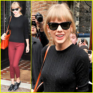Taylor Swift Paints the Town Red in New York City!