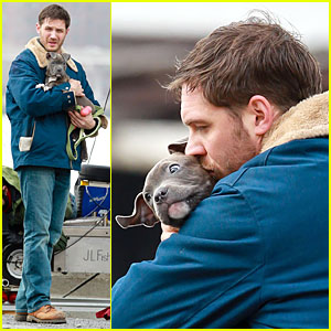 Tom Hardy: Kisses on 'Animal Rescue' Set!