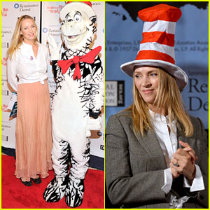 uma thurman cat in the hat for read across america day