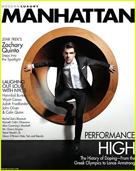 Zachary Quinto Covers 'Manhattan' April 2013