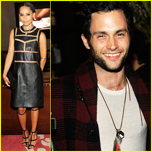 Zoe Kravitz: Swarovski Crystallized Launch with Penn Badgley!