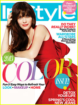 Zooey Deschanel Covers 'InStyle' April 2013