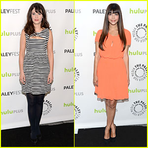 Zooey Deschanel: PaleyFest with 'New Girl' Cast!