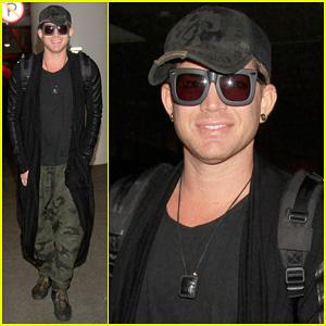 Adam Lambert: LAX Arrival After Miami Beach Gay Pride!