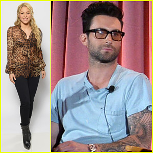 Adam Levine & Shakira: 'The Voice' NBC Summer Press Day!