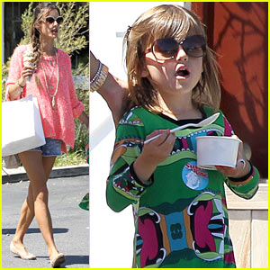 Alessandra Ambrosio & Anja: Ice Cream Treat!