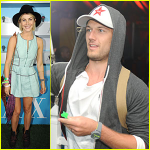 Alex Pettyfer & Julianne Hough: Neon Carnival Attendees!