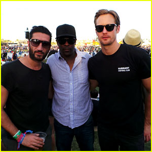 Alexander Skarsgard: Coachella with Buddies Keith & Fares!