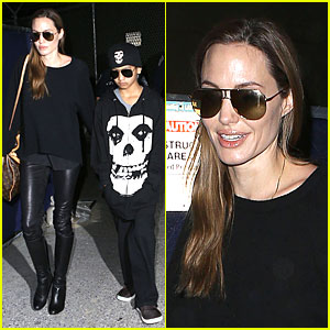 Angelina Jolie: LAX Arrival with Maddox!