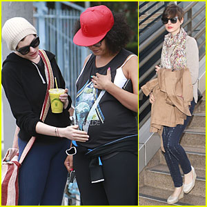 Anne Hathaway: Baby Bump Amusement!