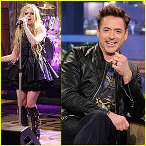 Avril Lavigne & Robert Downey Jr.: Guests on 'Leno'!